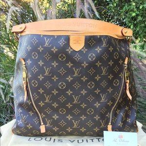 Louis Vuitton Delightful GM Tote Shoulder Bag